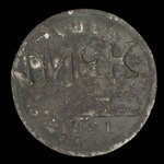 Canada, Lauzon Ferry, 4 pence <br /> 1821