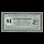 Canada, Town of Marysville, 1 dollar <br /> 1962