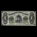 Canada, Dominion of Canada, 1 dollar <br /> June 1, 1878