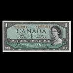 Canada, Bank of Canada, 1 dollar <br /> 1954
