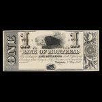 Canada, Bank of Montreal, 1 dollar <br /> May 1, 1849