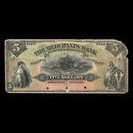 Canada, Merchants Bank of Prince Edward Island, 5 dollars <br /> January 2, 1900