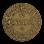 Canada, J.A. Bernardin, no denomination <br /> 1892