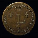 France, Louis XV, 2 sous <br /> 1751
