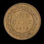 Canada, Victoria, 1 cent <br /> 1859