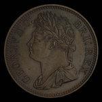 Great Britain, George IV, 1/100 dollar <br /> 1823