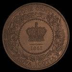 Canada, Province of Nova Scotia, 1 cent <br /> 1861