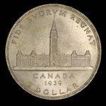 Canada, George VI, 1 dollar <br /> 1939