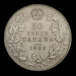 Canada, Edward VII, 50 cents <br /> 1902