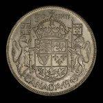 Canada, George VI, 50 cents <br /> 1945