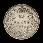 Canada, Victoria, 25 cents <br /> 1875