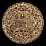 Canada, Victoria, 1 cent <br /> 1881