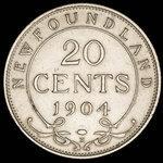 Canada, Edward VII, 20 cents <br /> 1904