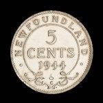 Canada, George VI, 5 cents <br /> 1944