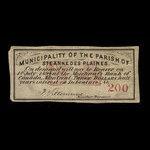 Canada, Parish of Ste. Anne des Plaines, 3 dollars <br /> January 1, 1878