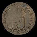 France, Louis XV, 1/2 sol <br /> 1722