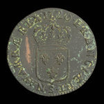 France, Louis XV, 1 sol <br /> 1720