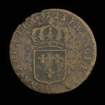 France, Louis XV, 1 sol <br /> 1723