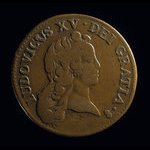 France, Louis XV, 1/2 sol <br /> 1721