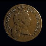 France, Louis XV, 1/2 sol <br /> 1721