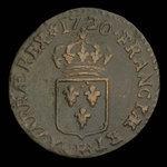 France, Louis XV, 1 liard <br /> 1720