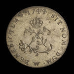 France, Louis XV, 2 sous <br /> 1744