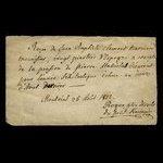 Canada, Father Roque, 20 dollars <br /> August 25, 1812