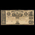 Canada, Free Holders Bank of the Midland District, 1 dollar <br /> 1838
