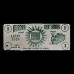 Canada, Town of Aurora, 1 dollar <br /> 1963