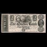 Canada, Quebec Bank, 2 dollars <br /> 1862