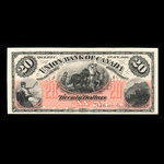 Canada, Union Bank of Canada (The), 20 dollars <br /> August 2, 1886