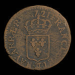 France, Louis XV, 1 liard <br /> 1721