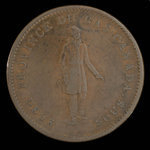 Canada, Banque du Peuple (People's Bank), 1 penny <br /> 1837