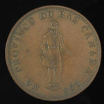 Canada, Banque du Peuple (People's Bank), 1/2 penny <br /> 1837