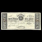 Canada, Hart's Bank, 10 sous <br /> October 1, 1837