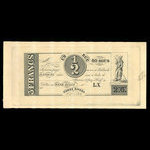 Canada, Hart's Bank, 60 sous <br /> October 1, 1837