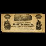 Canada, Auguste Couillard, no denomination <br /> 1887