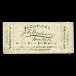 Canada, J.E. Deslauriers, no denomination <br /> 1887