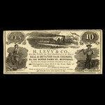 Canada, H. Levy & Co., no denomination <br /> 1887