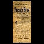 Canada, Pocock Bros., no denomination <br /> 1887
