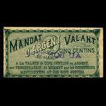 Canada, Blagdon & Paradis, 5 cents <br /> 1895