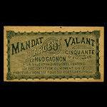 Canada, H. & O. Gagnon, 50 cents <br /> 1895