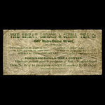 Canada, Great London & China Tea Co., no denomination <br /> 1887