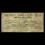 Canada, Great London & China Tea Co., no denomination <br /> 1887