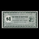 Canada, Town of Marysville, 1 dollar <br /> 1962