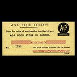 Canada, The Great Atlantic & Pacific Tea Co., Ltd. (A & P), no denomination <br /> 1946