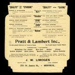 Canada, J.W. Limoges, no denomination <br /> 1905