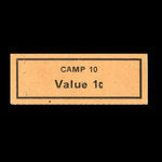 Canada, Camp 10, 1 cent <br /> November 1946