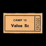 Canada, Camp 10, 5 cents <br /> November 1946