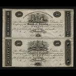 Canada, Bank of Canada, 20 dollars <br /> 1819